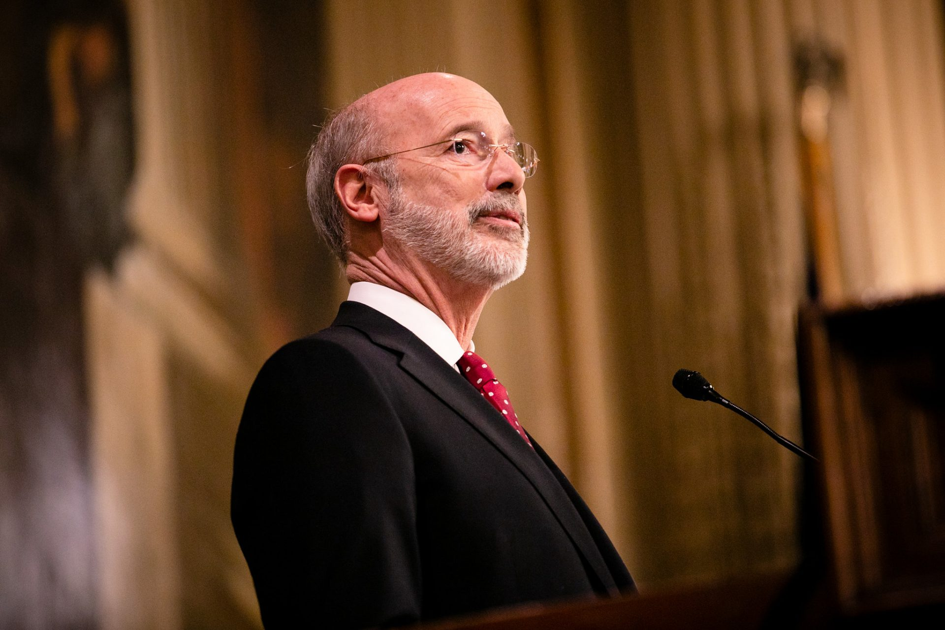 Governor Tom Wolf delivers his 2020-21 budget address in Harrisburg on Tuesday, February 4, 2019.