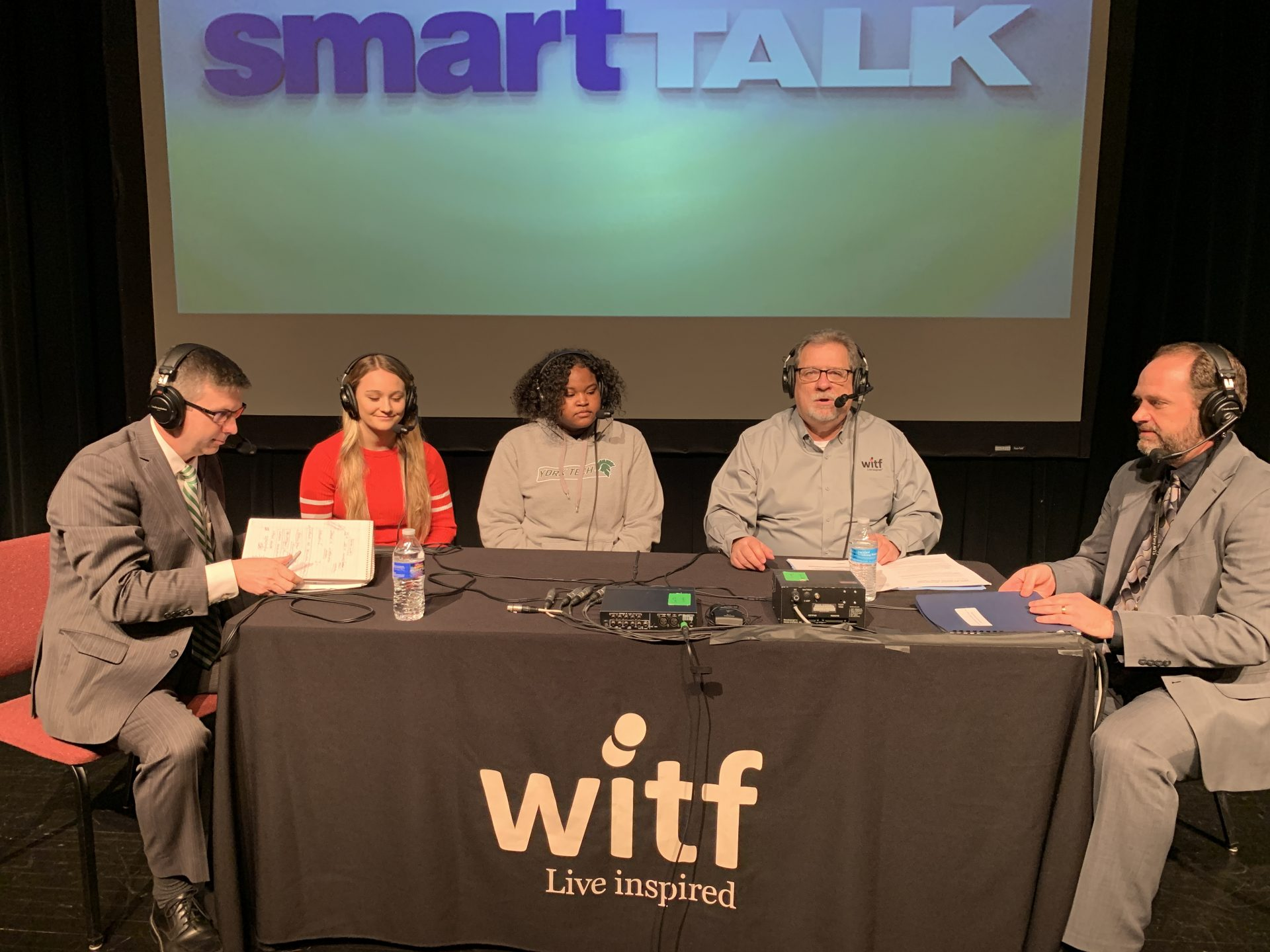 Scott Rogers, assistant director of the York County School of Technology; students Kasey Davis, a senior in the dental assisting program at Cumberland Perry AVTS, and Nadia Stuckey, a senior in the engineering and advanced manufacturing program at York County School of Technology; and Justin Bruhn, director of Cumberland Perry AVTS, share their perspectives.