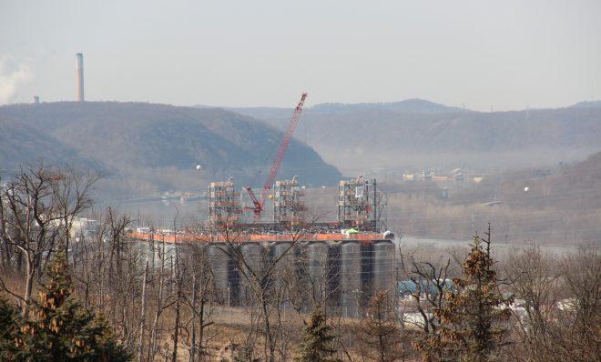 Shell's multi-billion dollar ethane cracker under construction in February, 2020. Photo: Reid R. Frazier