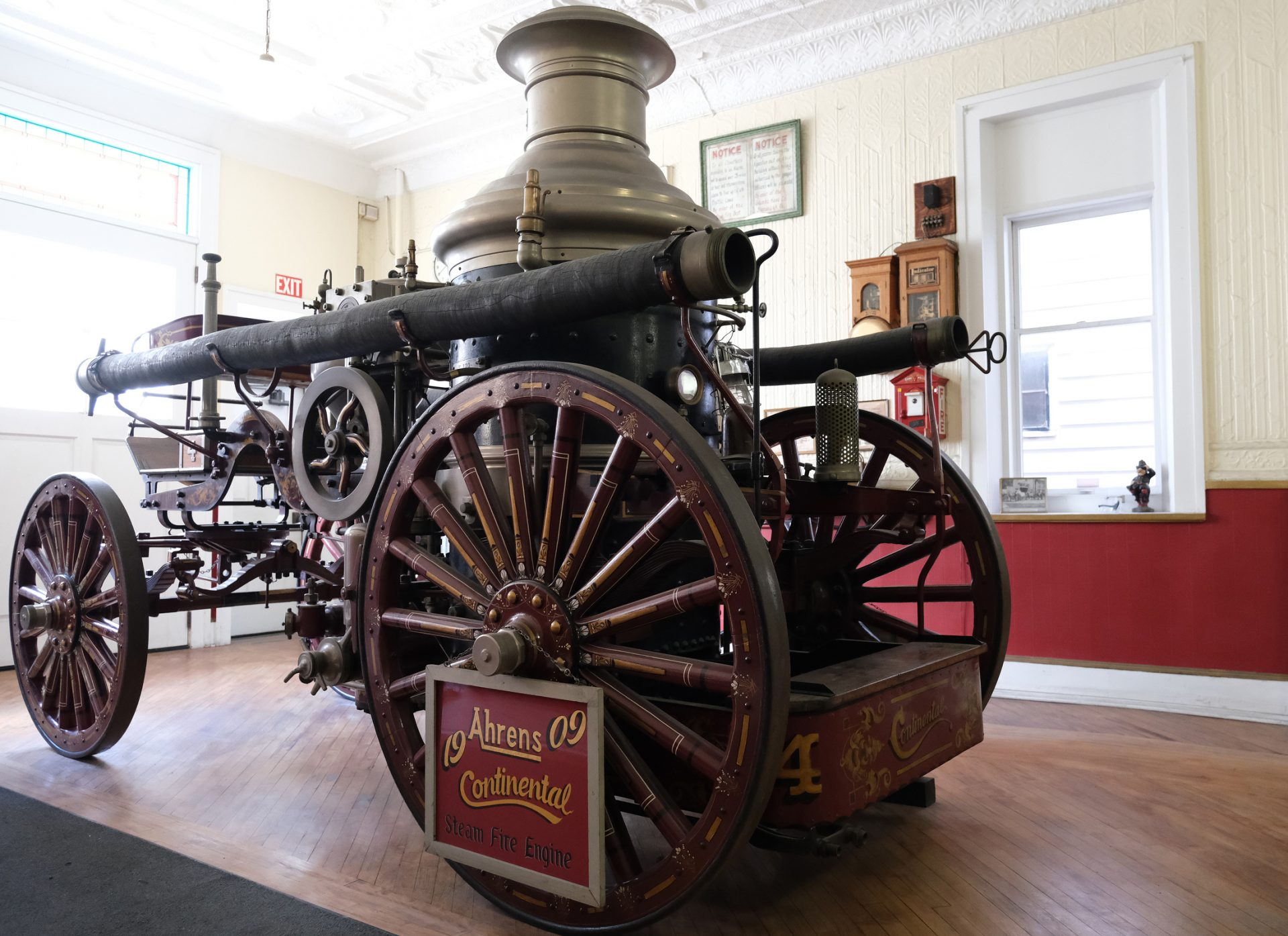 A 1909 Ahrens Continental steam fire engine is displayed Jan. 16, 2020, at the Schuylkill Historical Fire Society in Shenandoah, Pennsylvania.