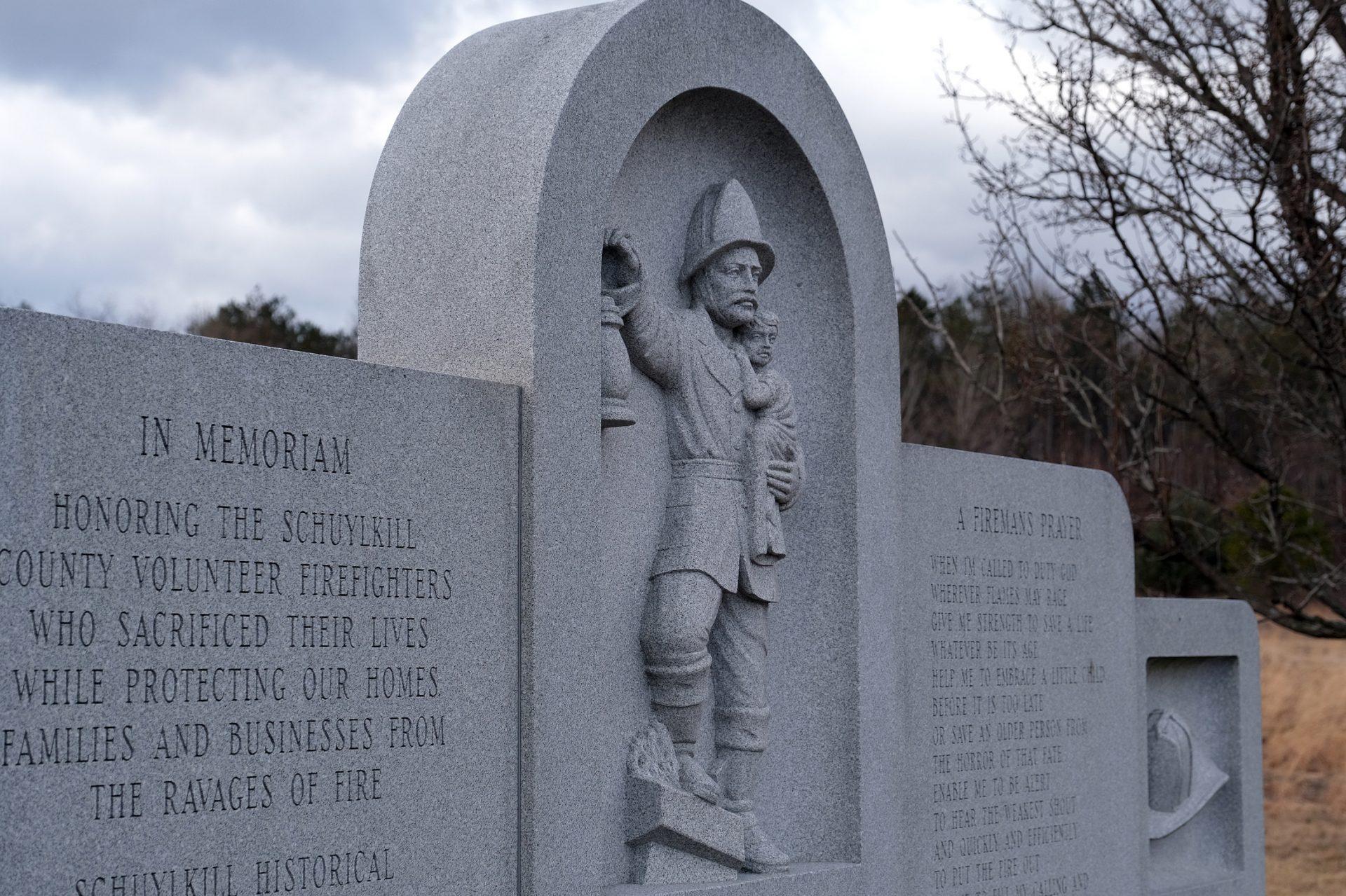 The Fallen Firefighters Memorial on Jan. 16, 2020, in Frackville, Pennsylvania.