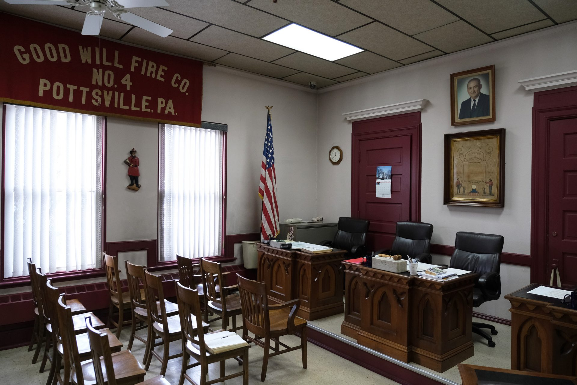 A look at the meeting room Jan. 16, 2020, at Good Will Fire Company No. 4 in Pottsville, Pennsylvania.