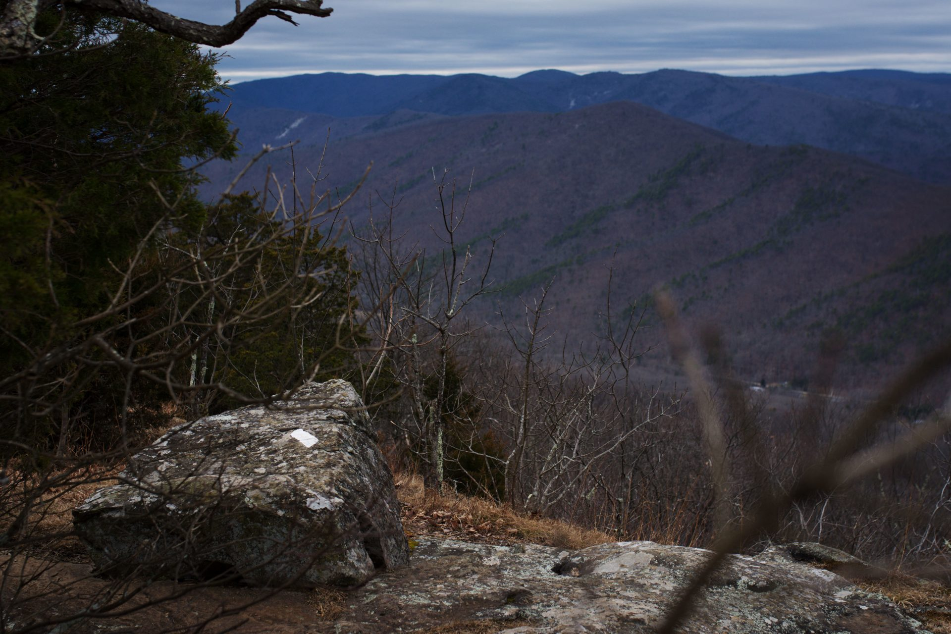 Looking west from this overlook in the George Washington National Forest in central Virginia, the pathway of the pipeline would be visible along the valley floor running to the north.