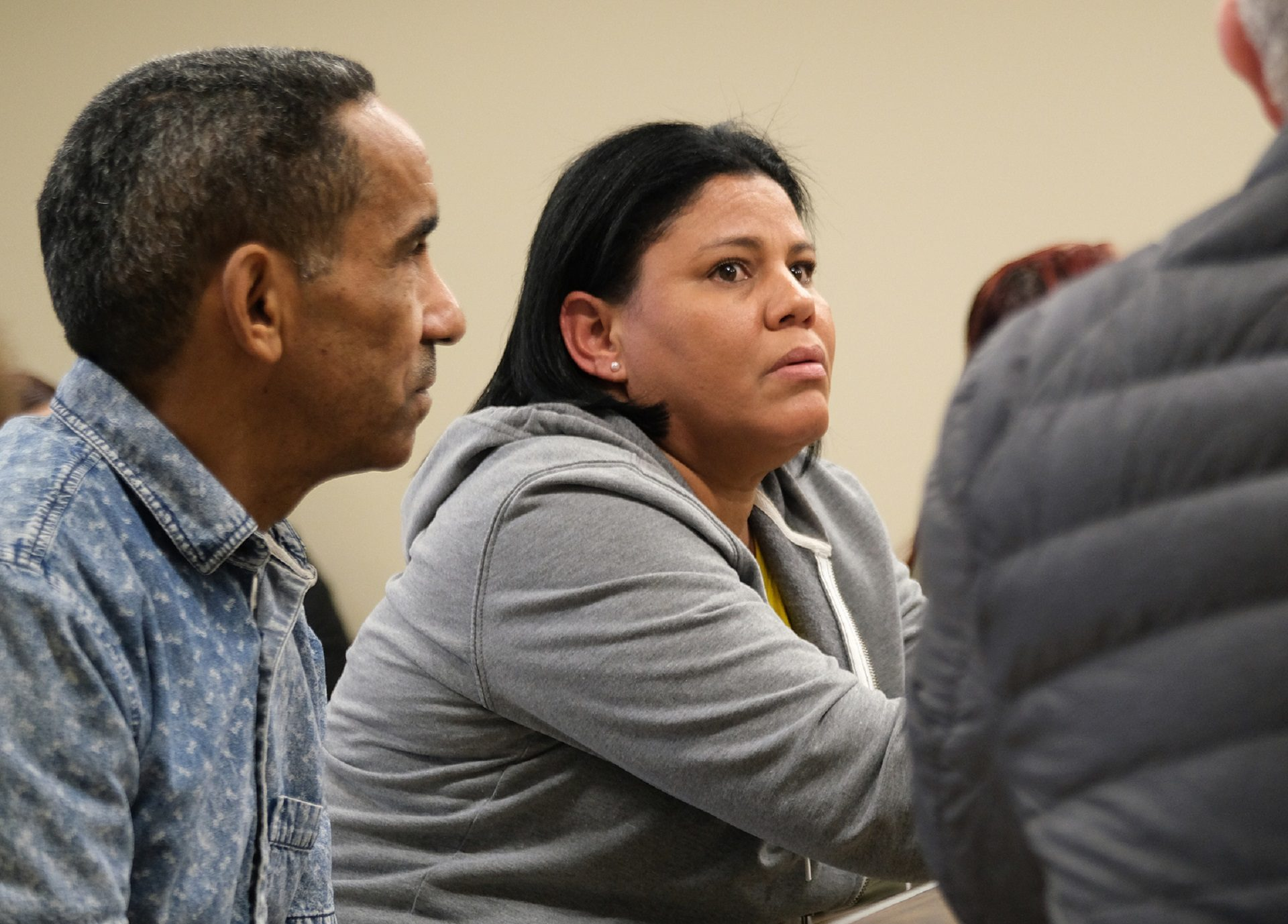 Reading resident Sonia Arias appears in eviction court at Magisterial District Court in Reading on Nov. 25, 2019.