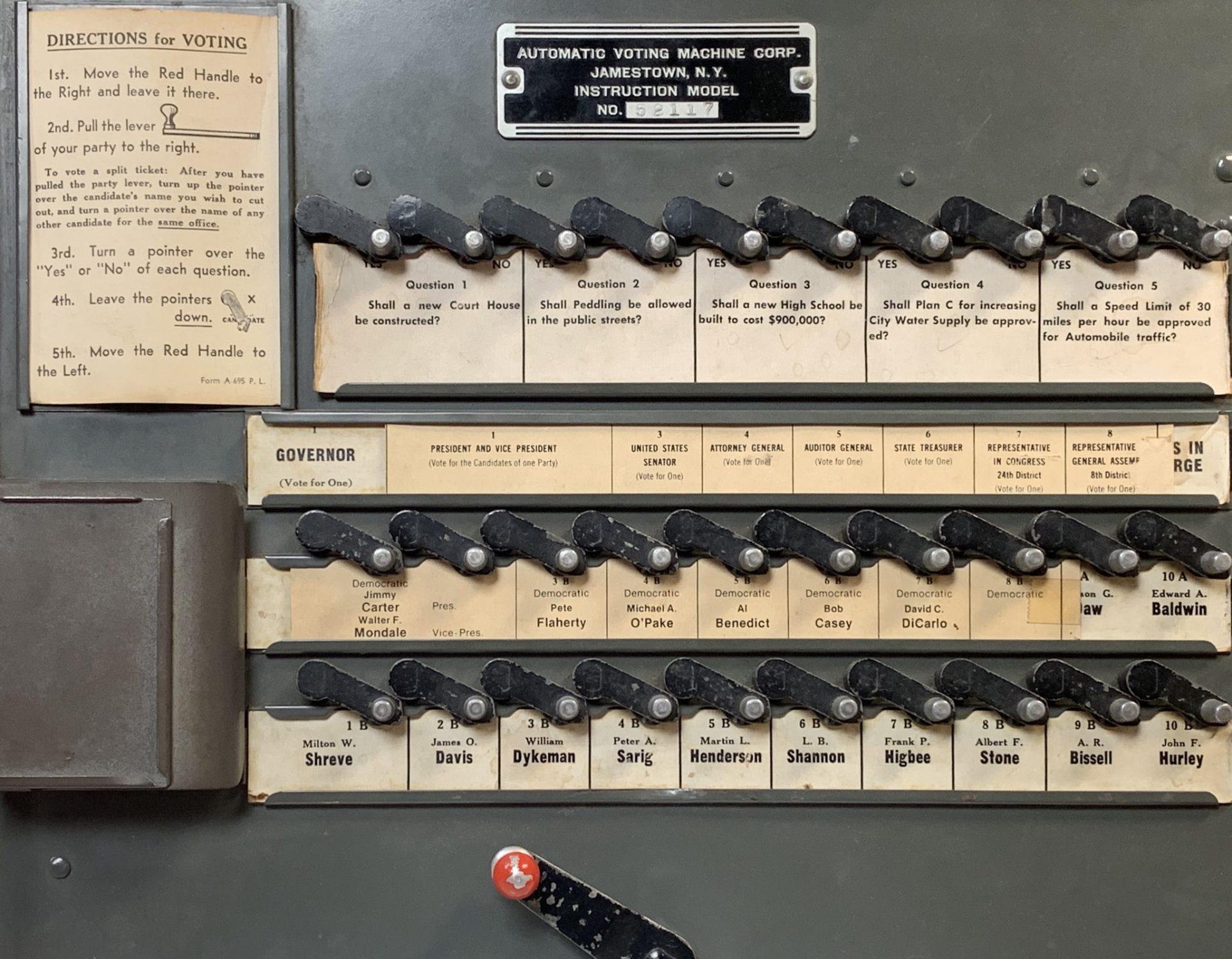 Old voting machine