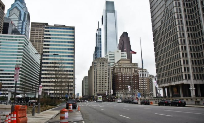 Philadelphia streets have slowed down in the wake of the coronavirus shutdown.