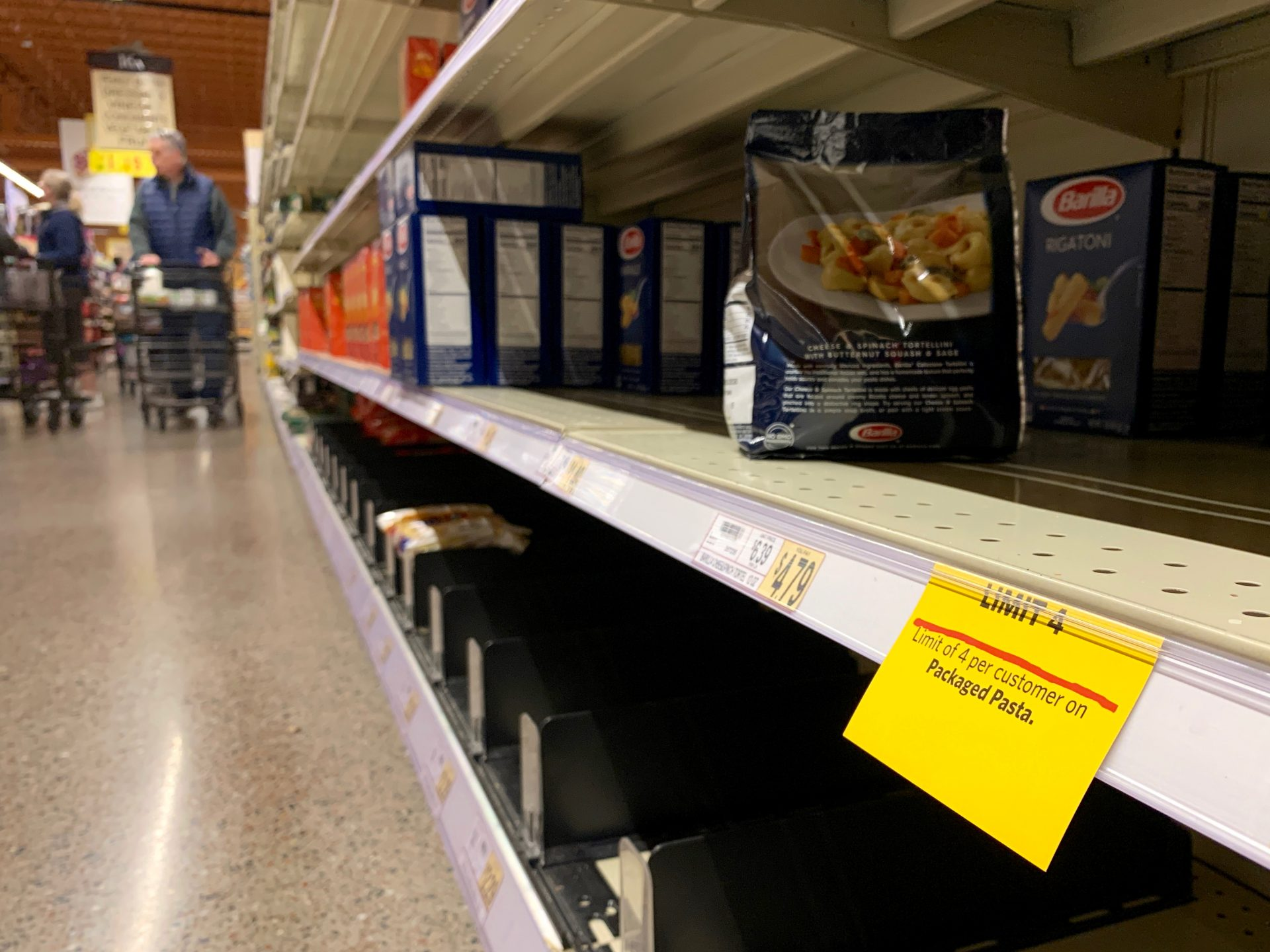 Wegmans in Mechanicsburg, Pa., is asking customers to limit purchases on certain items that have been more popular amid coronavirus concerns.a