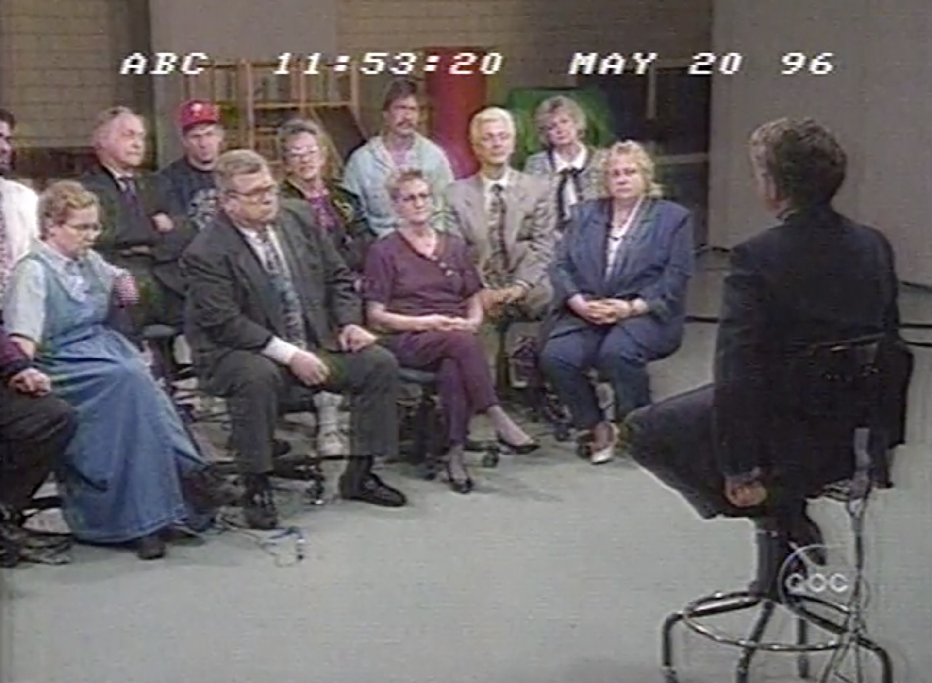 During Nightline's 1996 feature, host Ted Koppel convened a forum of Bridesburg residents to talk about the neighborhood's treatment of Ward.