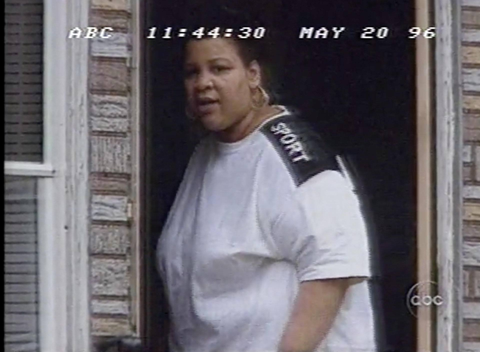 Bridget Ward, as shown in Nightline's feature on racism in Bridesburg in 1996.