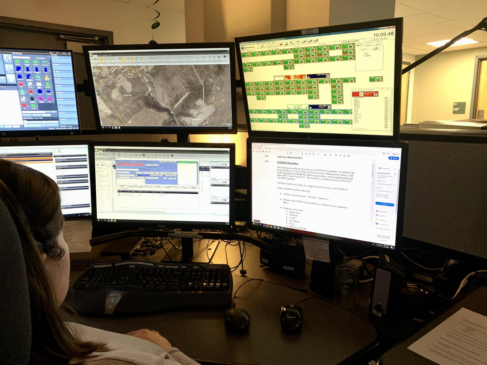 Centre County emergency dispatchers ask 911 callers a series of questions if the person who needs help has flu-like symptoms.