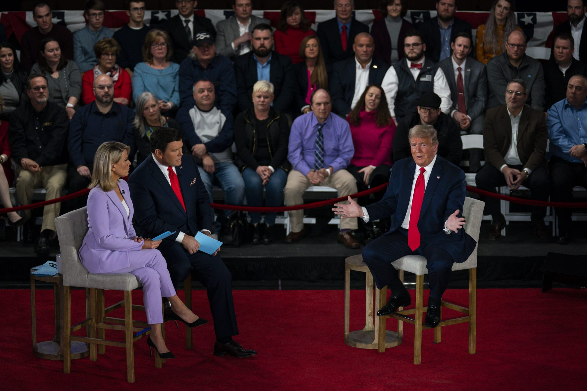 In Scranton Trump Defends His Rhetoric In 1st Tv Town Hall Of 2020 Witf
