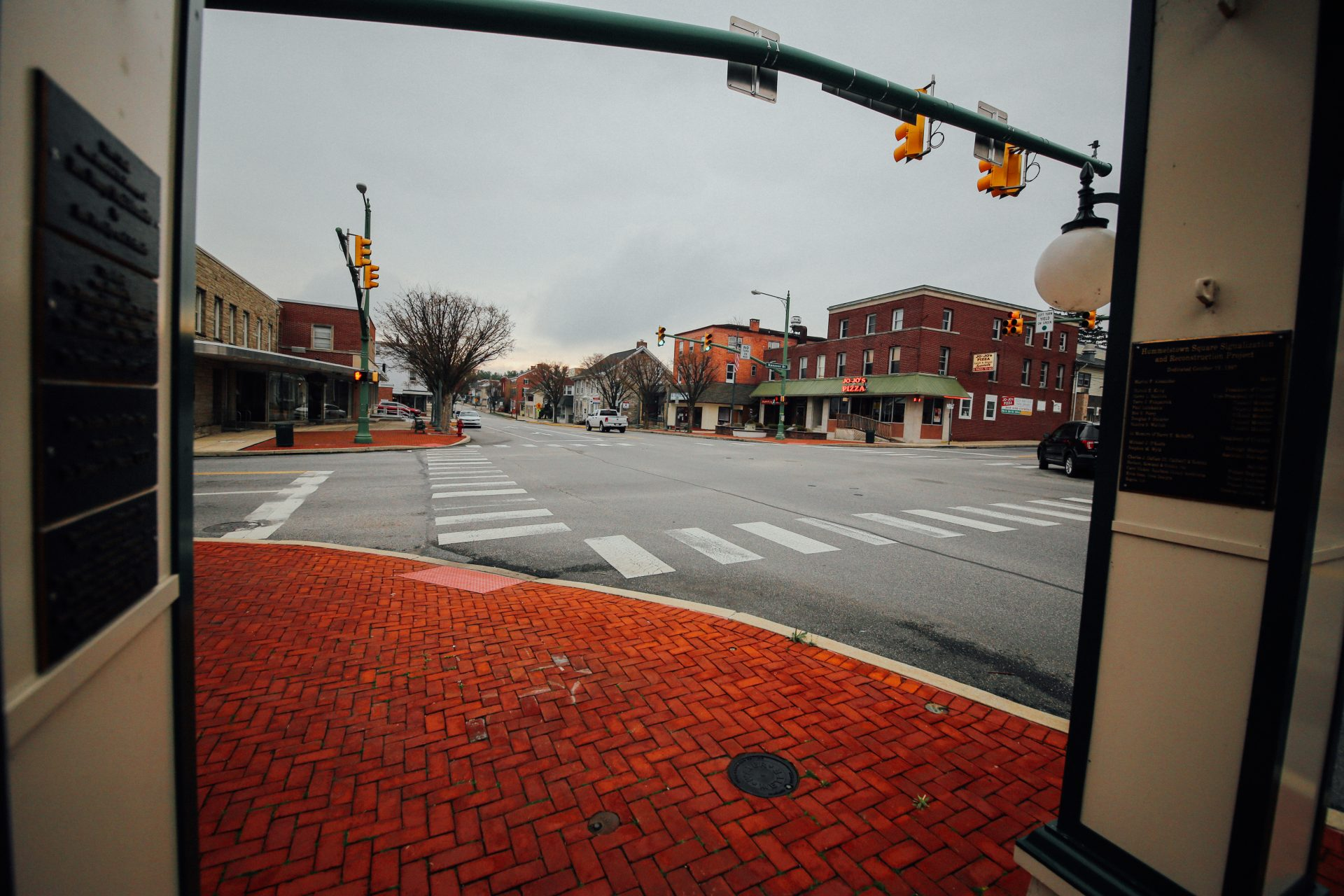 Empty streets in downtown Hummelstown in Dauphin County on April 1, 2020.