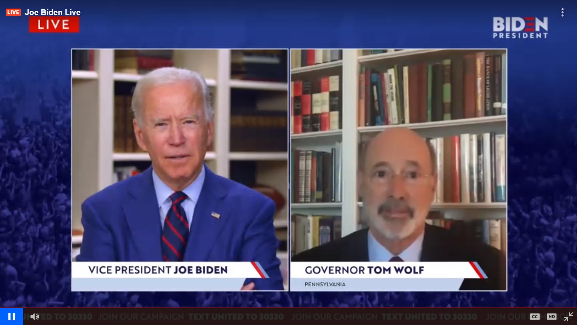 Joe Biden Tom Wolf