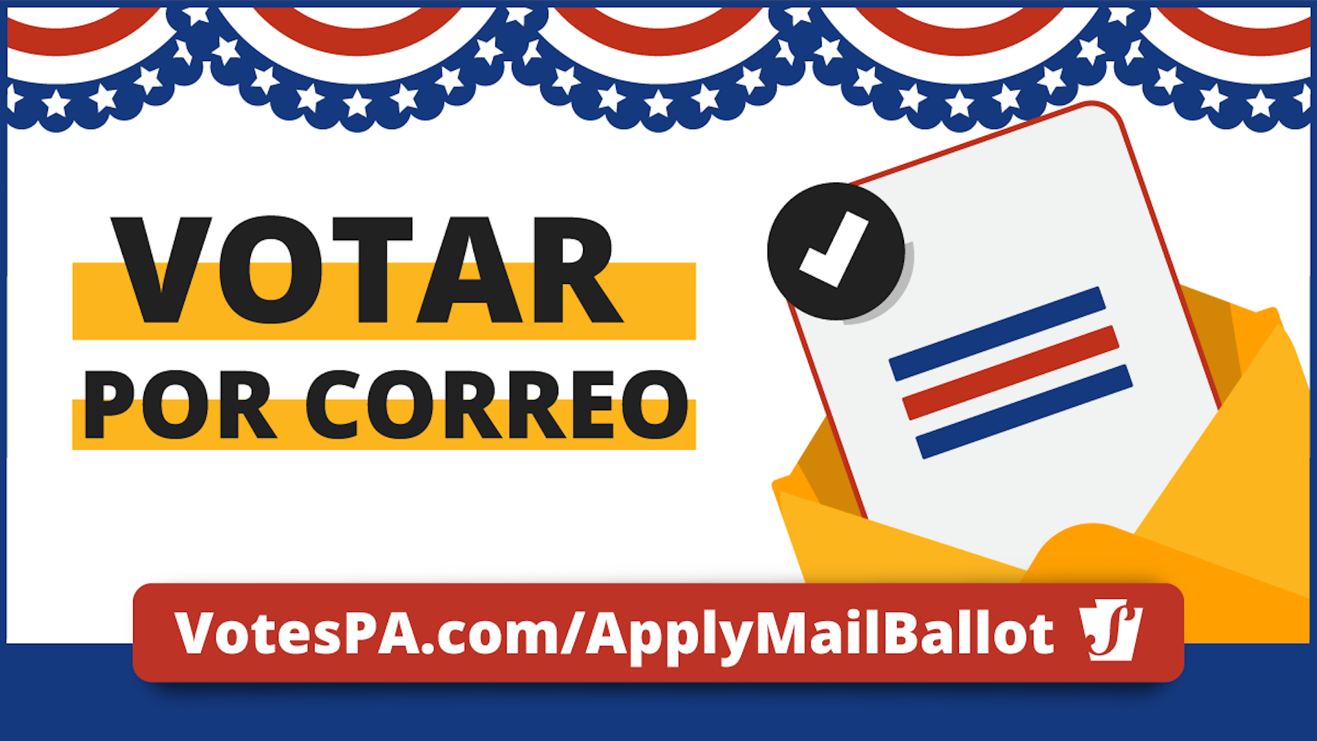 Pennsylvania's Department of State put out Spanish-language ads explaining how to vote by mail.