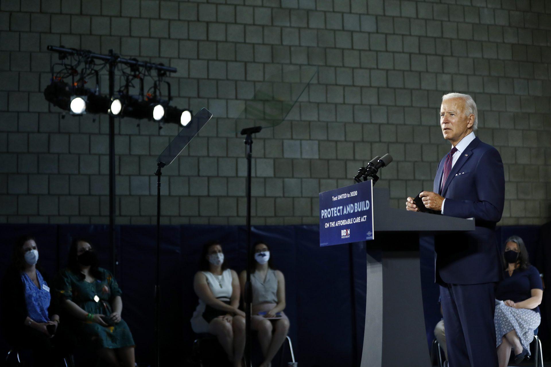 Democratic presidential candidate, former Vice President Joe Biden speaks during an event Thursday, June 25, 2020, in Lancaster, Pa.