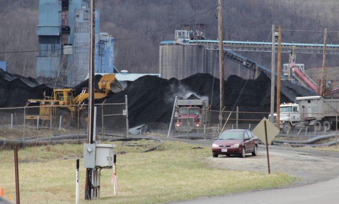 Outside Contura Energy's Cumberland Mine in Waynesburg, Greene County.