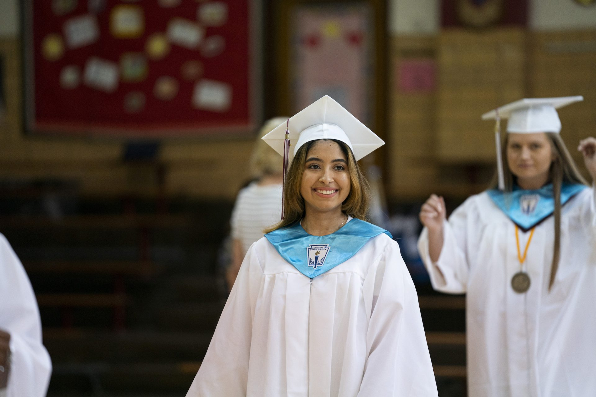 Ashley on graduation day at Little Flower Catholic School for Girls in Hunting Park.