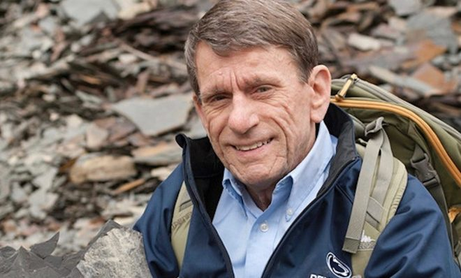 Terry Engelder, professor emeritus of geosciences at Penn State, calculated how much natural gas could be tapped into using unconventional drilling in the Marcellus Shale region.