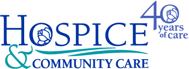 Hospice and Community Care 40 Years logo