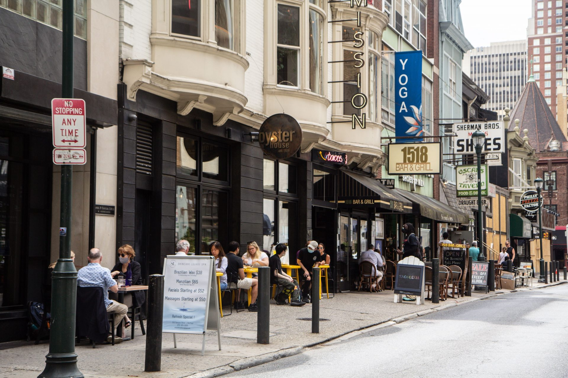 Dining in Philadelphia will remain outdoor seating only for now.