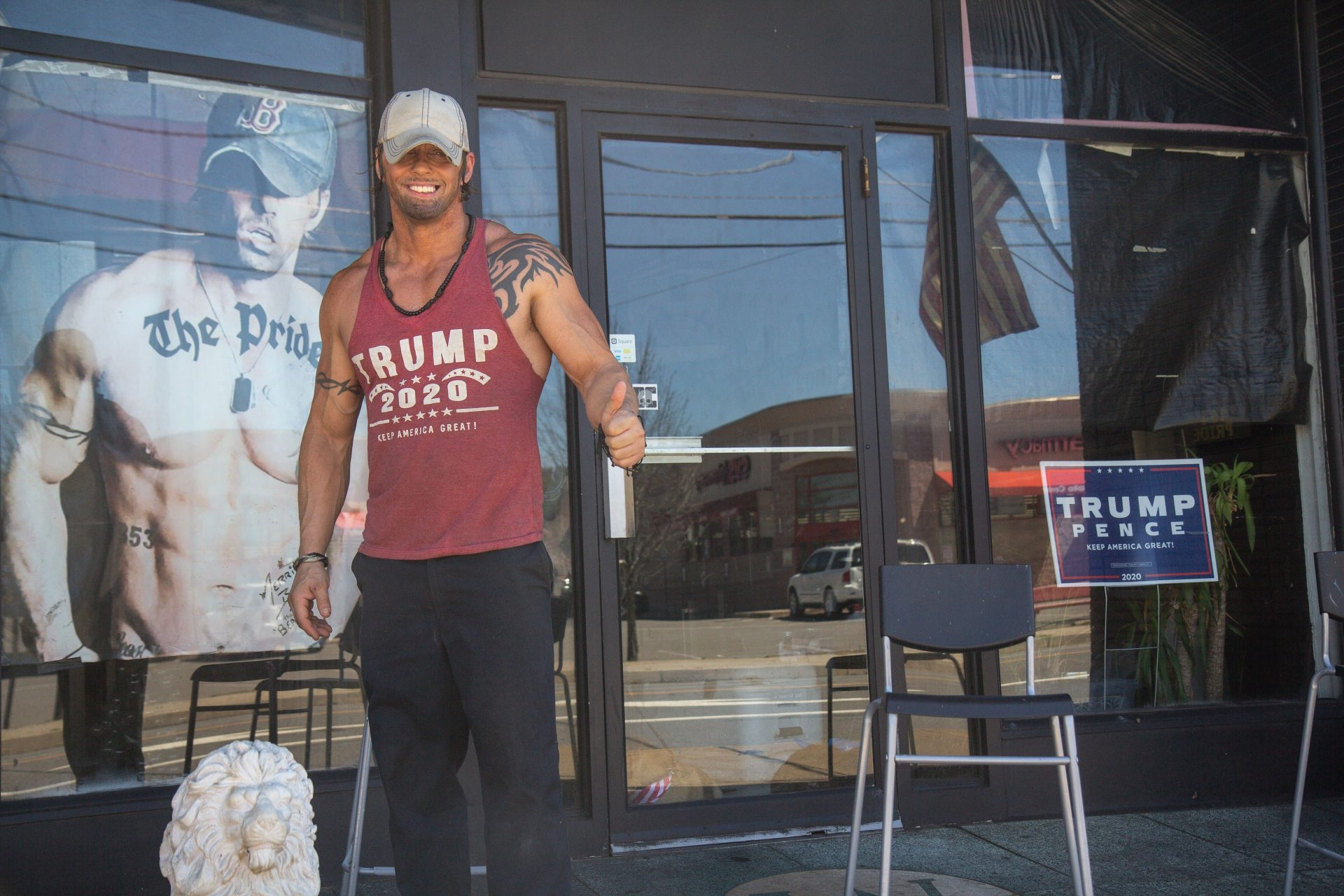 Merrit Boyle, who owns a personal training business in Old Forge, Pa., said he is a Trump supporter but would support Biden if elected.