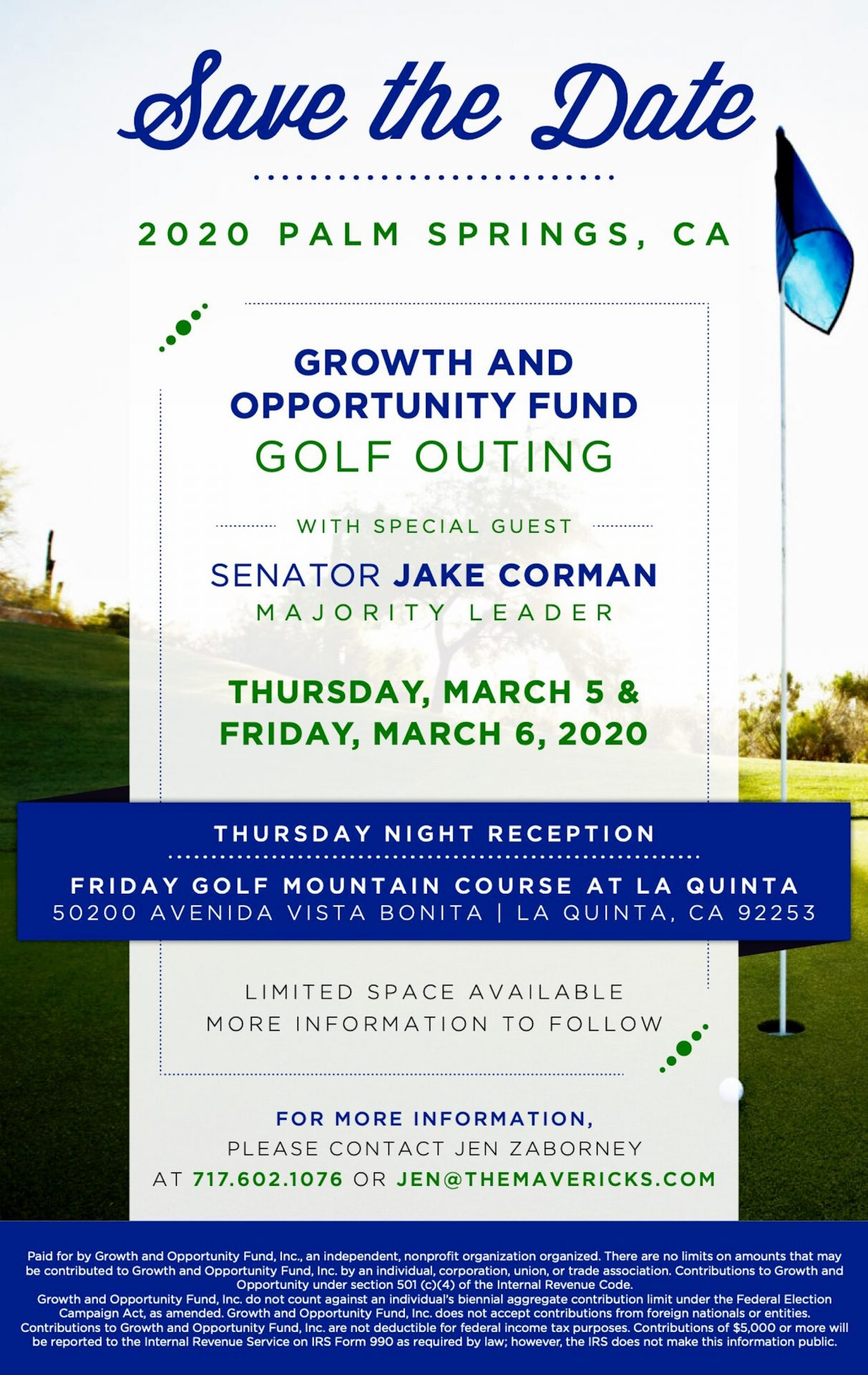 An invitation to a Growth and Opportunity Fund fundraising event headlined by Senate Majority Leader Jake Corman (R., Centre) obtained by The Caucus and Spotlight PA.