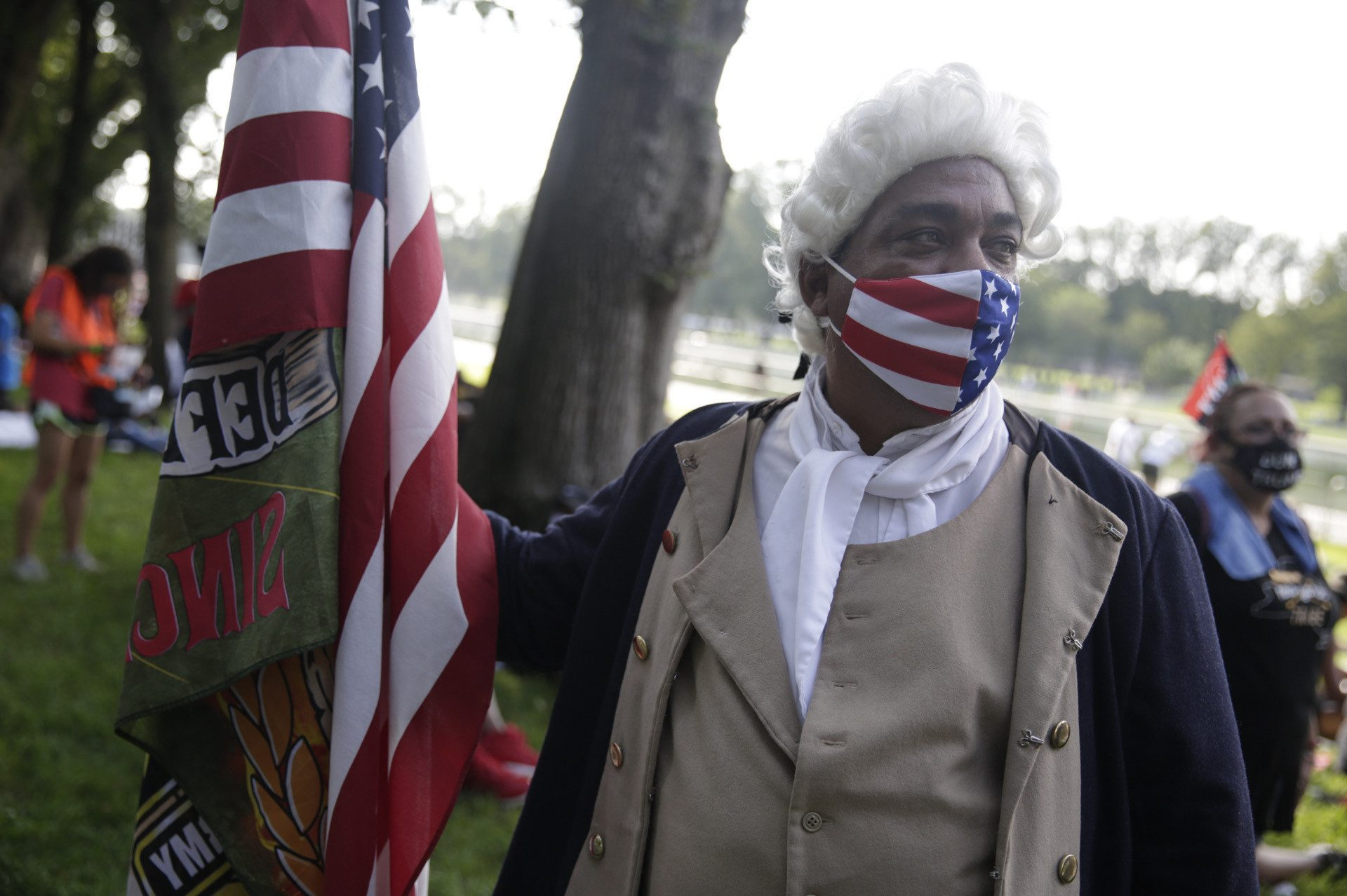 "Ricardo 'The Patriot' from Polk City, Florida, said ""Black people have been here since before the United States was a country...and people forget that."""
