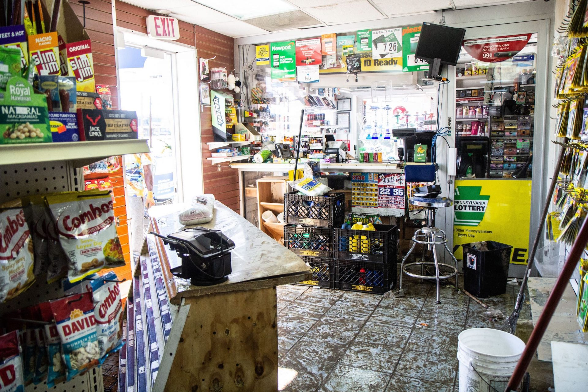 The aftermath at 69th Street Car Wash and Smoke Shop.