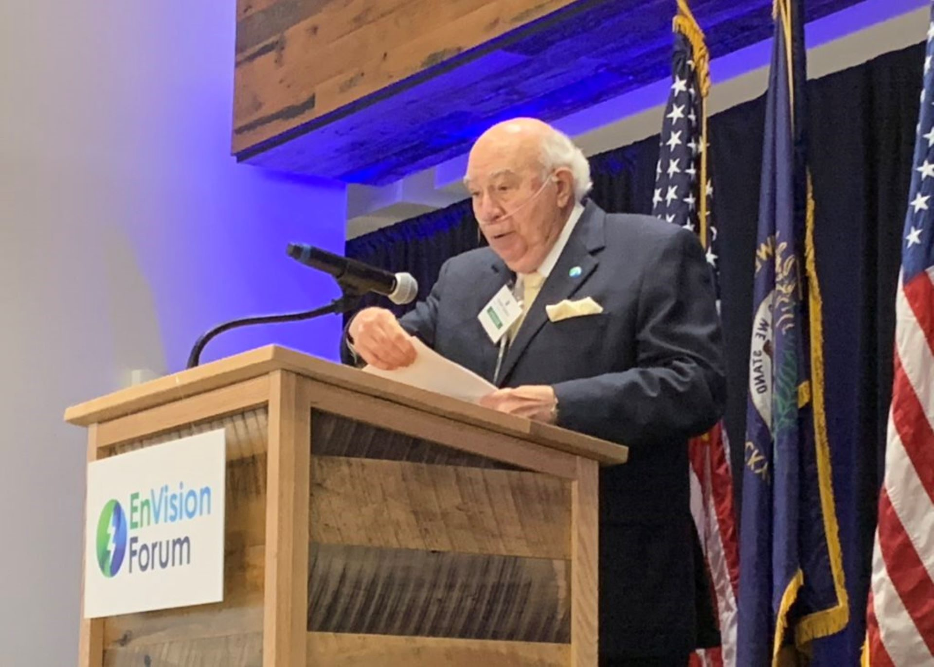 Bob Murray speaking at an event in October, 2019.