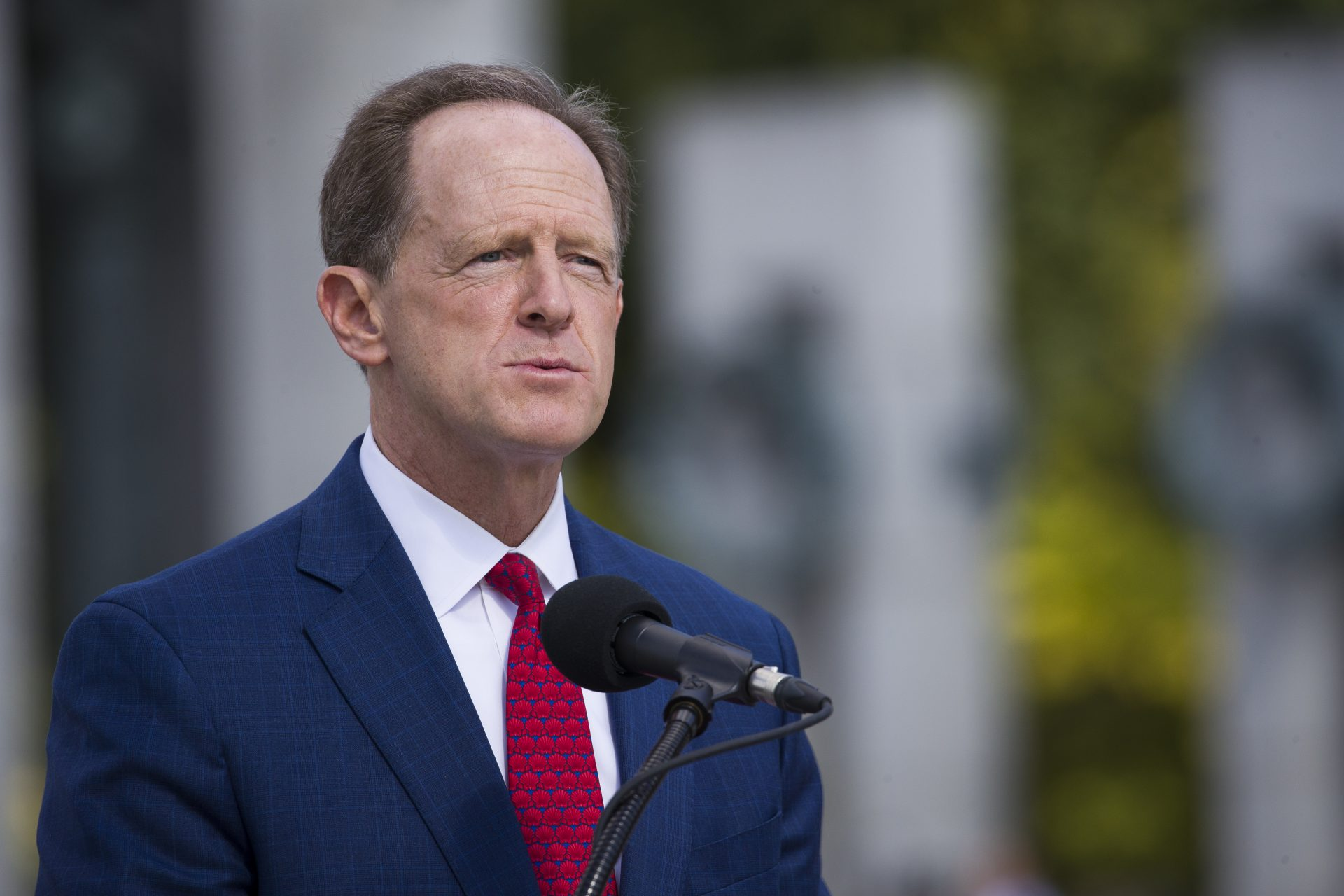 Sen. Pat Toomey, R-Pa., speaks during a ceremony Wednesday, Sept. 18, 2019, in Washington. Toomey will not seek re-election in 2022, according to a person with direct knowledge of Toomey's plans, Sunday, Oct. 4, 2020.