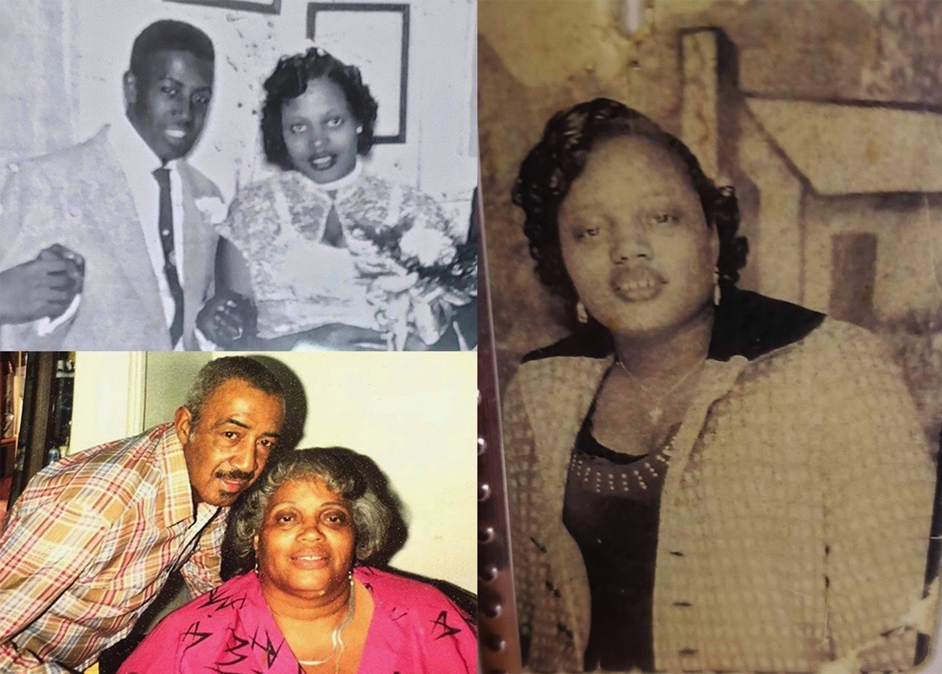 Ida (right, at 18 years old) was born in Martinsville, Va., and moved to Philadelphia when she was 3 years old. She married Johnny Robinson in November of 1956 (top left) and they raised six children. Johnny (pictured bottom left in 1989) died in 1997.