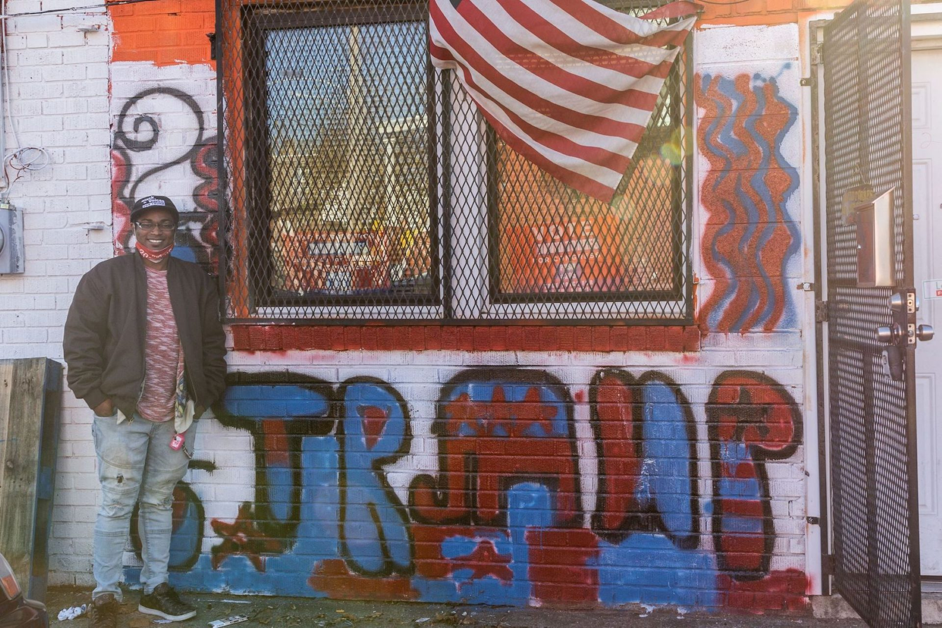 Pastor Phillip Fisher Jr. of the Center of Universal Divinity in North Philadelphia supported President Trump and local Republicans in the Nov. 3 election. Children he works with in his congregation painted the Trump 2020 mural outside the church.