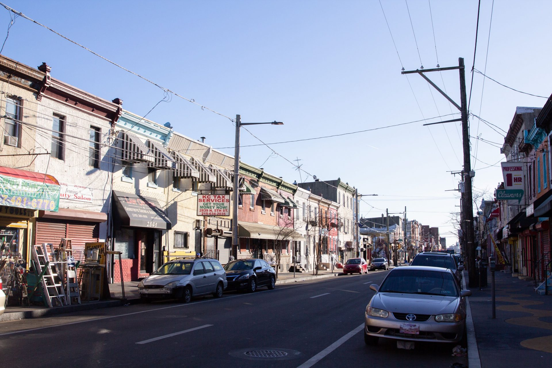 North 5th and Cambria Streets in Philadelphia.