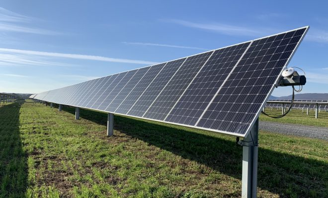 A solar array at the Nittany 1 Solar Farm is seen here in Lurgan Township, Franklin County on Nov. 24, 2020.