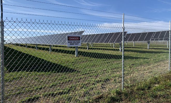 The Nittany 1 Solar Farm, seen here from outside protective fencing in Lurgan Township, Franklin County on Nov. 24, 2020.