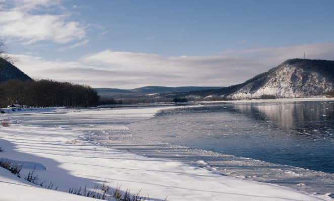 The Susquehanna River on December 17, 2020.
