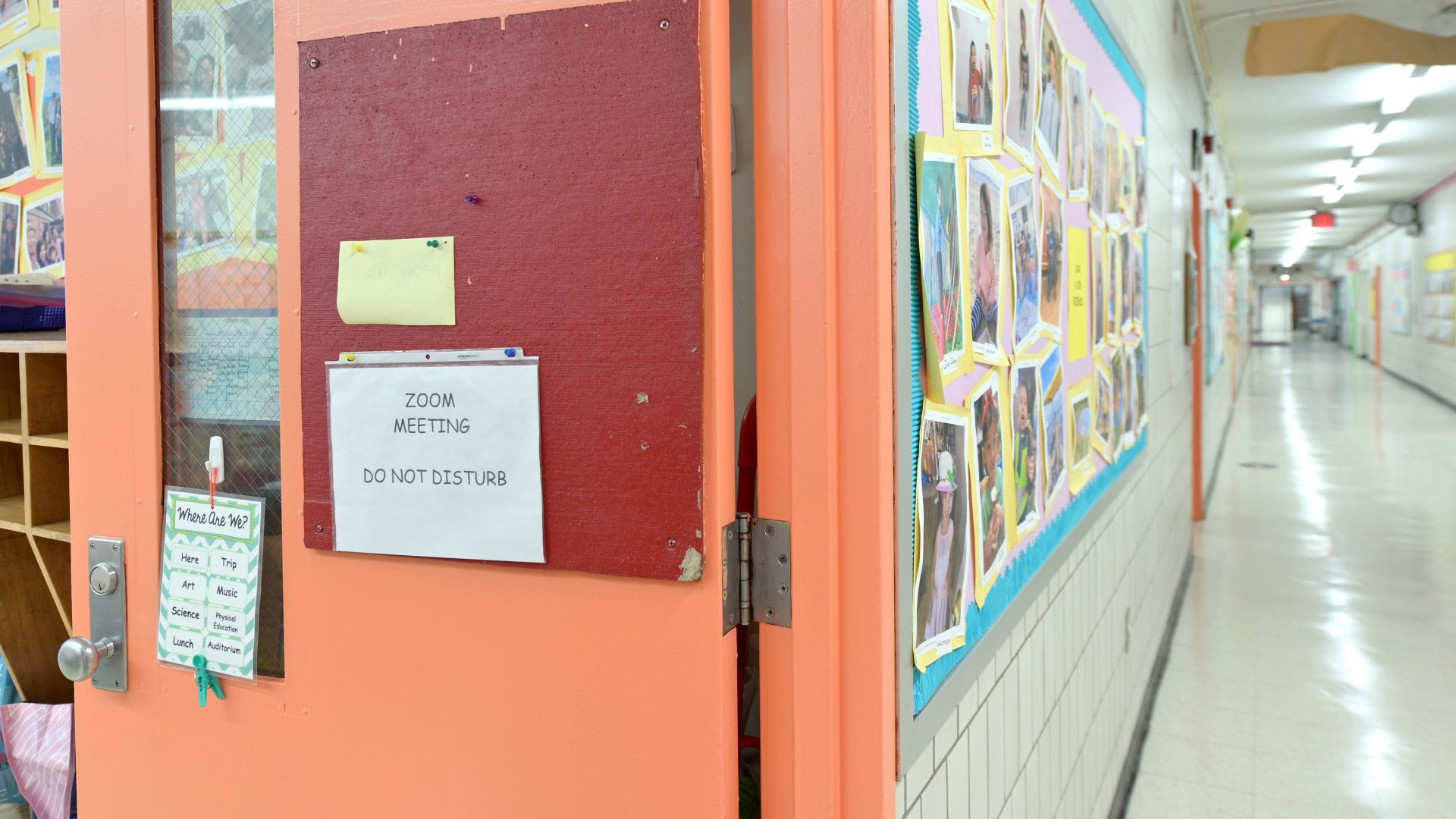The first day back to school on Dec. 7 at Yung Wing School P.S. 124 in New York City. Students whose parents opted for blended learning returned to school after all were shut down a few weeks earlier. Millions of students are still going to school online.