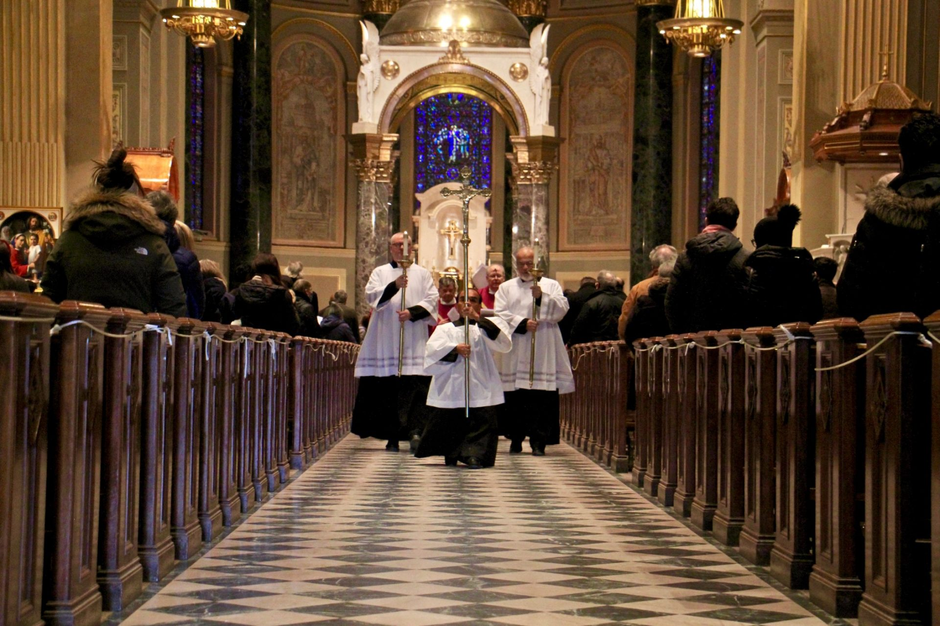 Ash Wednesday Mass is celebrated at the Basilica of Saints Peter and Paul in Philadelphia