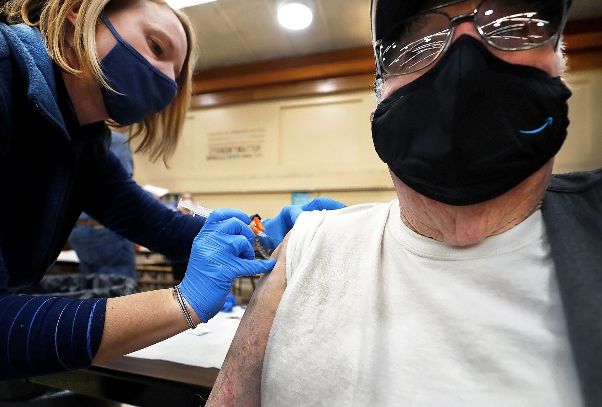 Robert Keen, 84, of Forksville, thought he would have to wait until April to get the vaccine despite being eligible, but received it during a community clinic last month at the Sullivan County Elementary School in Laporte Borough.
