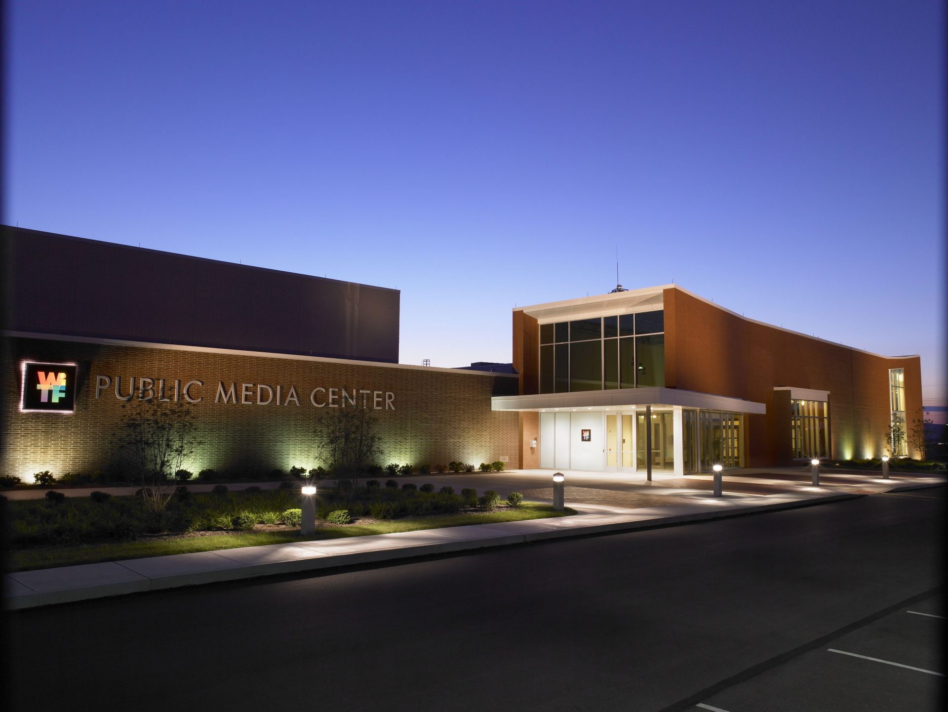 WITF's Public Media Center in Swatara Township, Dauphin County. Staff moved into the new building in November 2006.