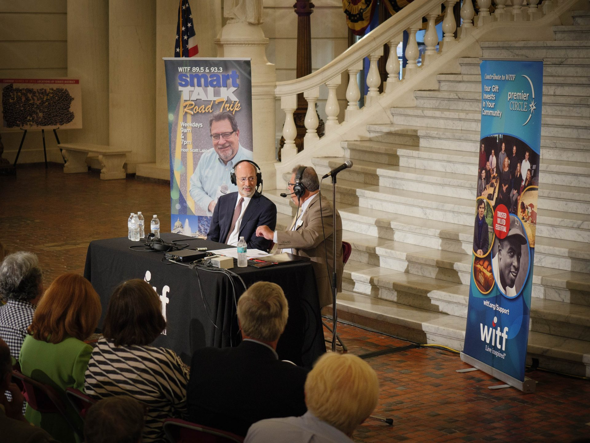 A remote Smart Talk broadcast from the state Capitol on Aug. 3, 2017.