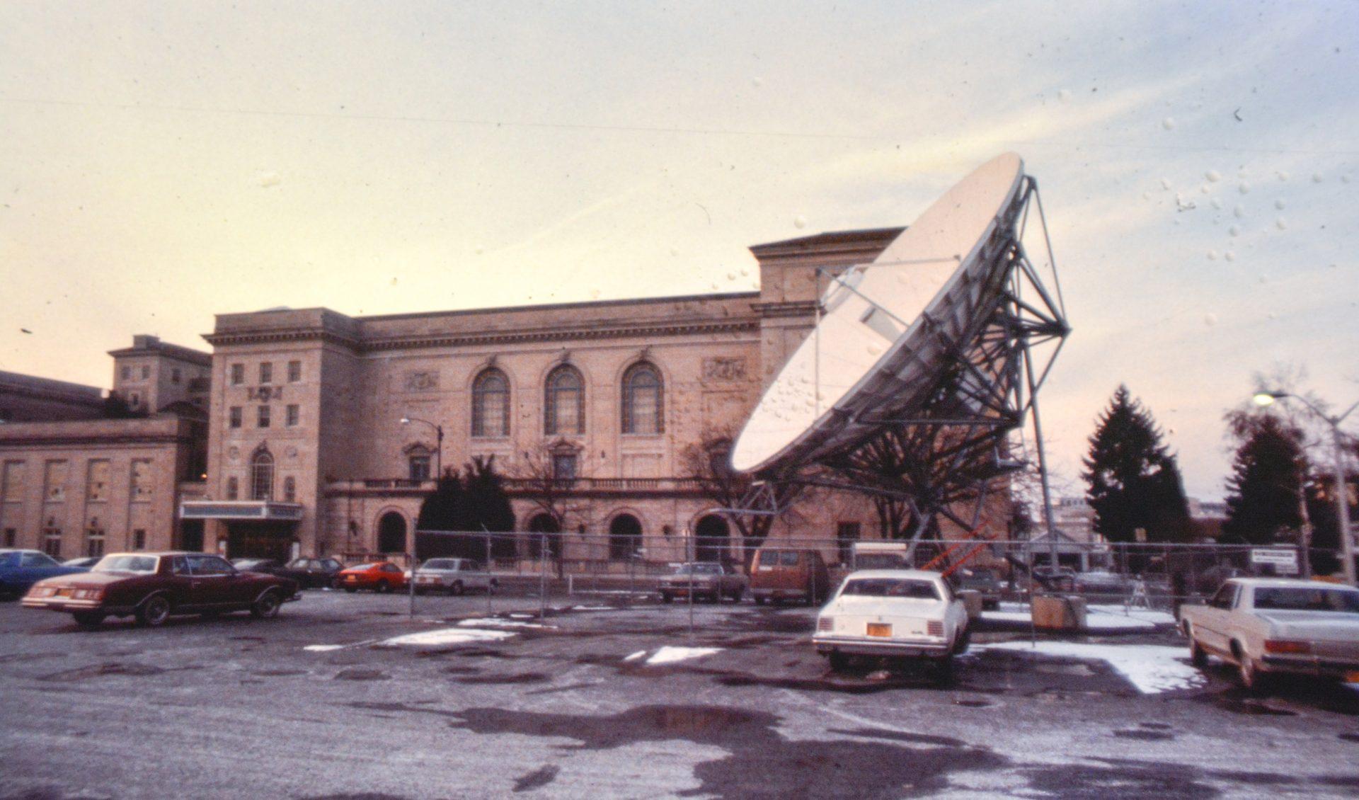 WITF began broadcasting from studios in Hershey.