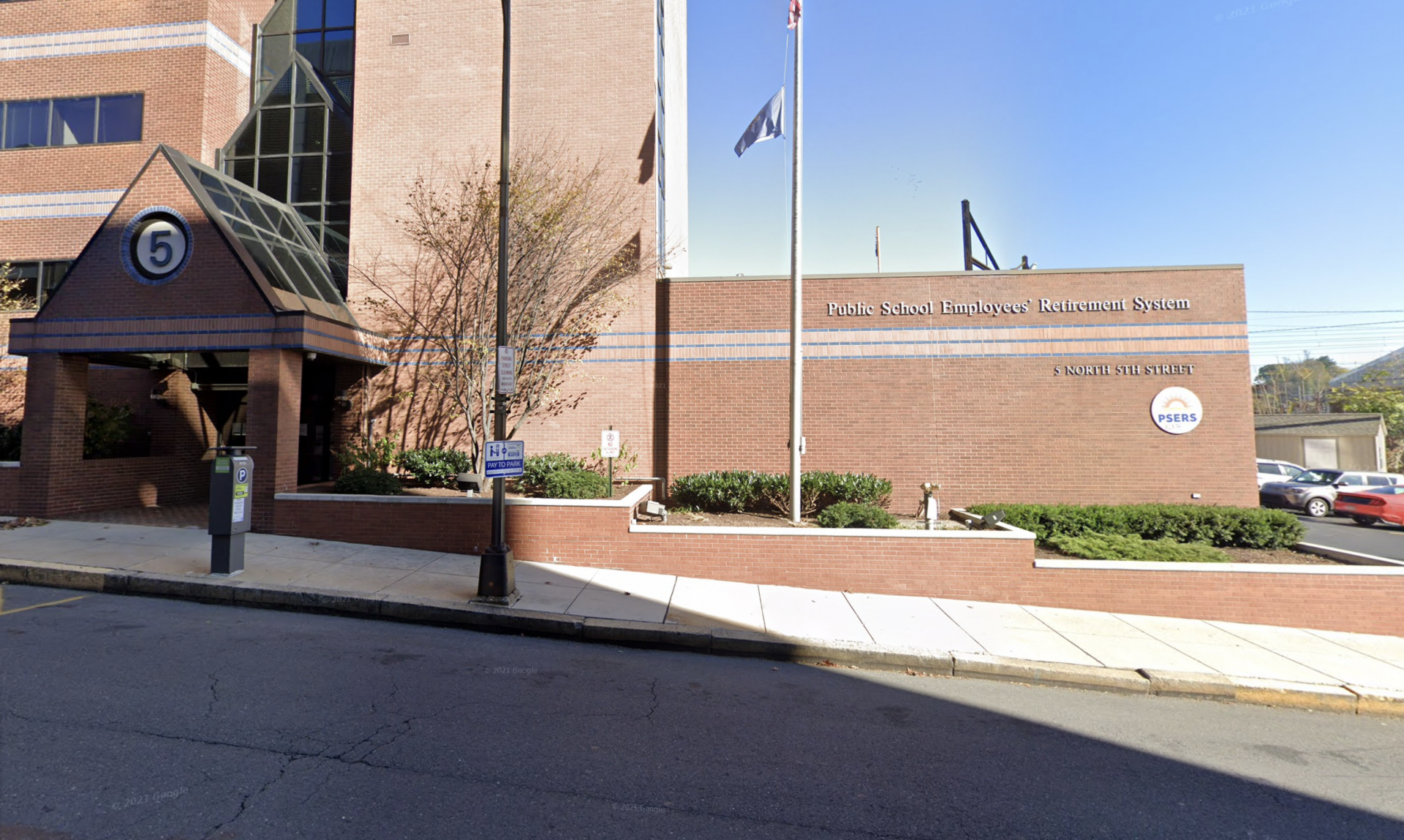 The headquarters of Pennsylvania's Public School Employees' Retirement System (PSERS) is seen at 5 N. 5th St. in Harrisburg.