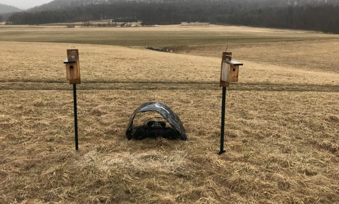 Penn State researchers played shale gas compressor noise next to half of the nest boxes in a study designed to measure the impact of compressor noise on songbirds' reproductive success.