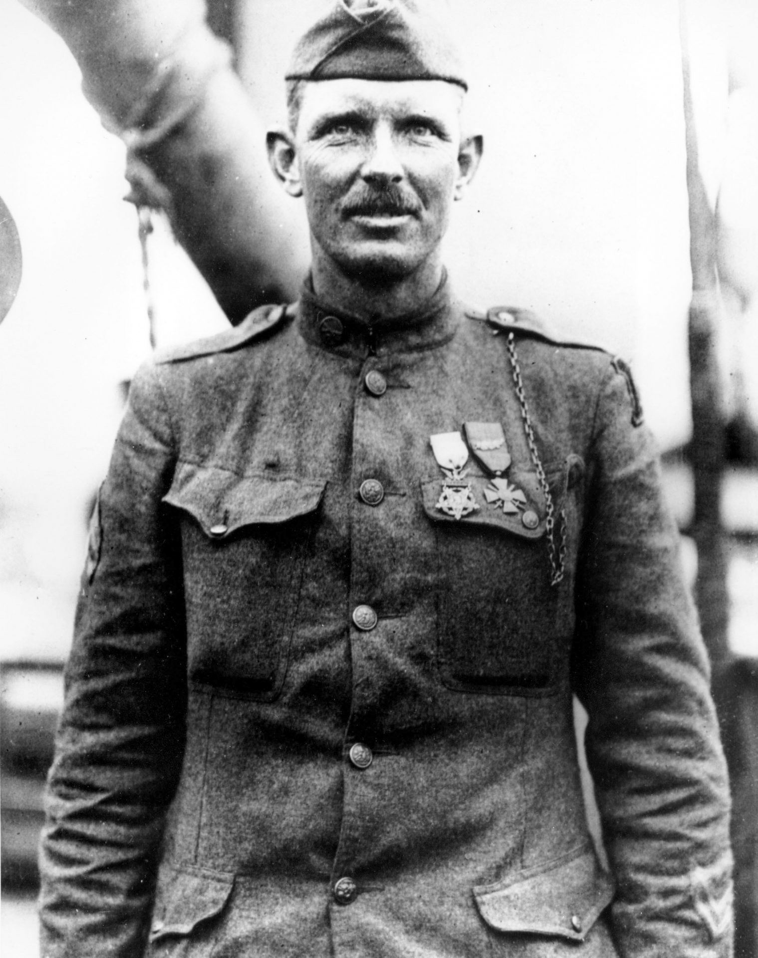 This is a 1919 file photo of Sgt. Alvin York of the U.S. Army in an unknown location.