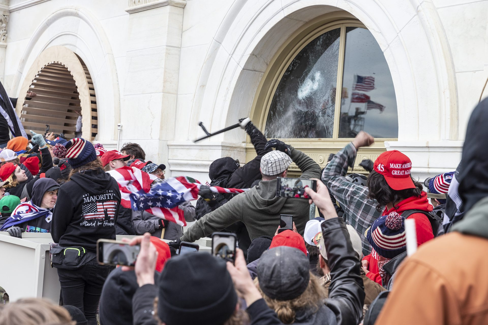 Prosecutors allege some people charged in the Capitol riot had batons. It's unclear how many people brought batons to the Capitol that day and how many batons were taken from law enforcement.