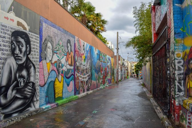 Street Art and Murals in San Francisco's Mission District stock photo
