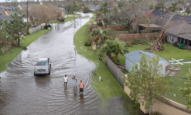 Flooded streets are shown in the Spring Meadow subdivision in LaPlace, La., after Hurricane Ida moved through Monday, Aug. 30, 2021. Hard-hit LaPlace is squeezed between the Mississippi River and Lake Pontchartrain.