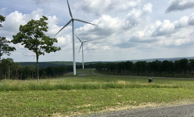 Turbines that are part of the Sandy Ridge Wind Farm in Centre and Blair counties. Wind energy is one option for electricity consumers in Pennsylvania.