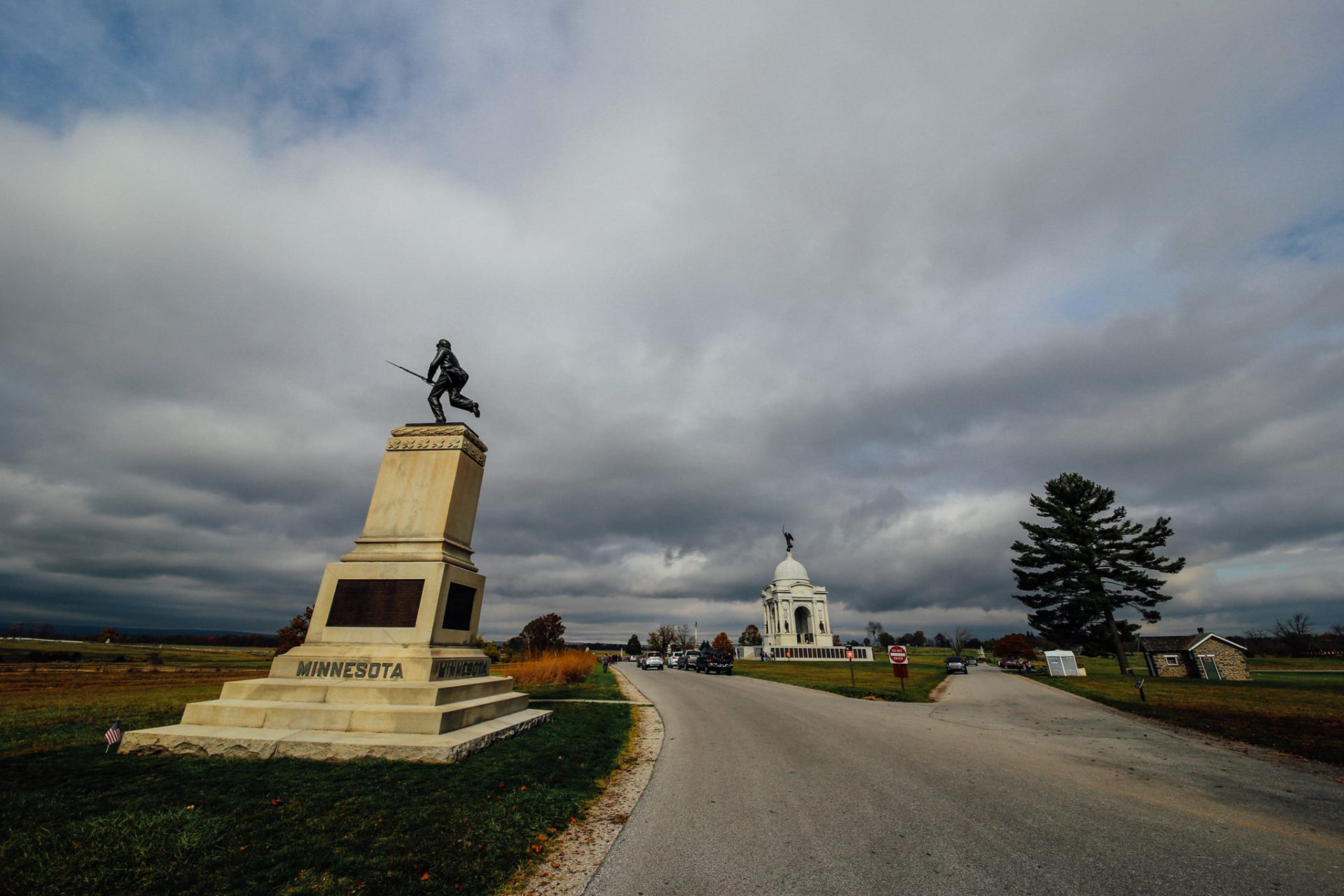 The First Minnesota Monument at the Gettysburg National Military Park.